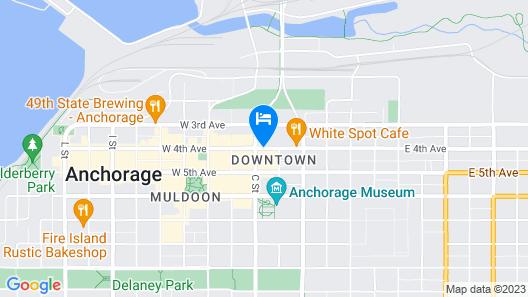 Aviator Hotel Anchorage Map