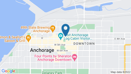 Historic Anchorage Hotel Map