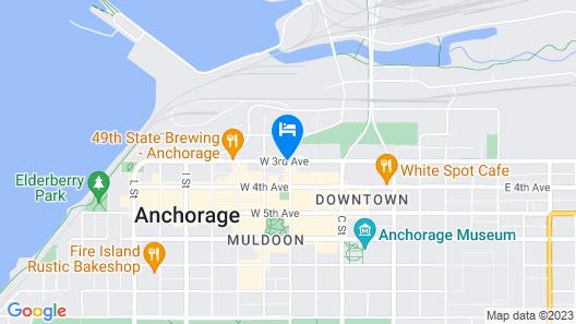 Hilton Anchorage Map