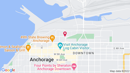 Anchorage Grand Hotel Map