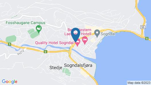 Quality Hotel Sogndal Map