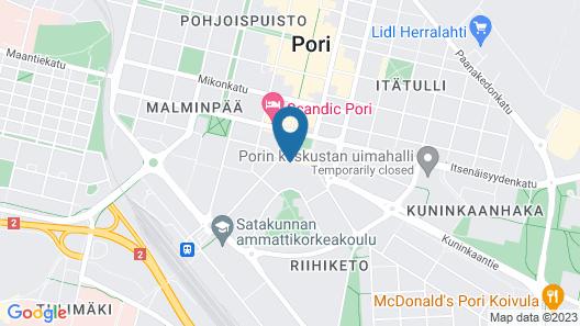 Kotimaailma Apartments Pori City Center Map