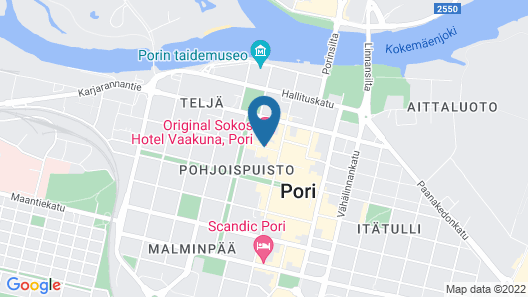 Original Sokos Hotel Vaakuna Pori Map