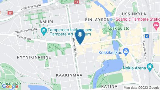 Forenom Aparthotel Tampere Map