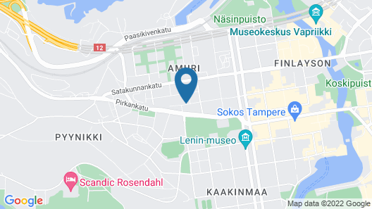 Forenom Serviced Apartments Tampere Pyynikki Map