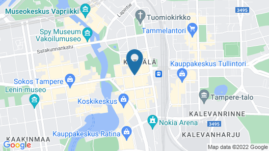 Omena Hotel Tampere Map