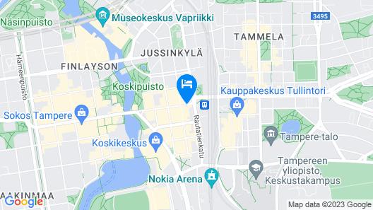 Scandic Tampere City Map