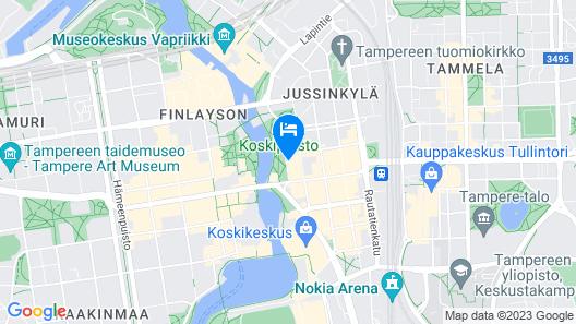 Scandic Tampere Koskipuisto Map