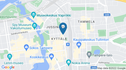 Holiday Inn Tampere - Central Station Map