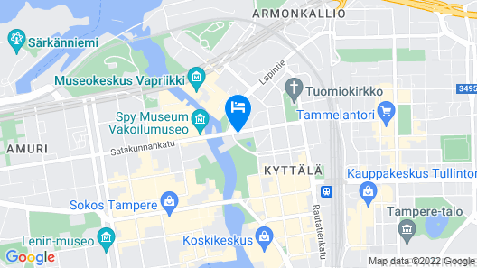 Radisson Blu Grand Hotel Tammer, Tampere Map