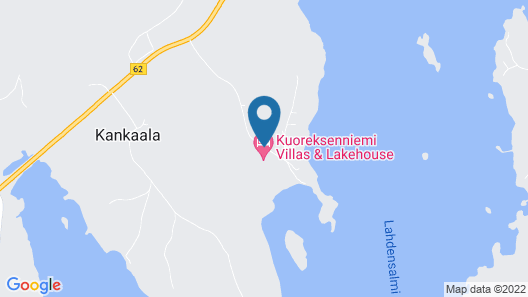 Kuoreksenniemi Villas & Lakehouse Map