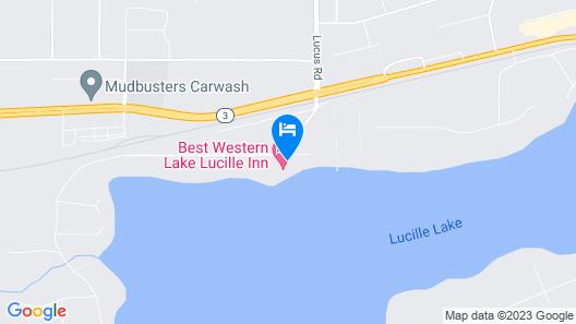 Best Western Lake Lucille Inn Map