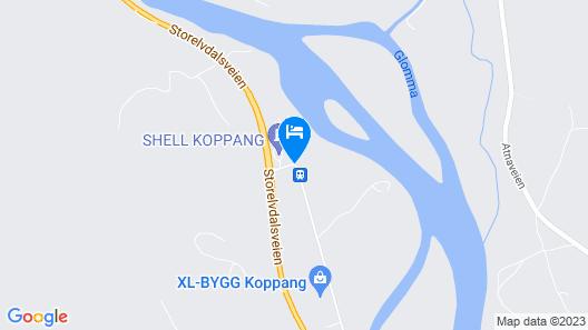 Tiur'n Kro og Hotel Map