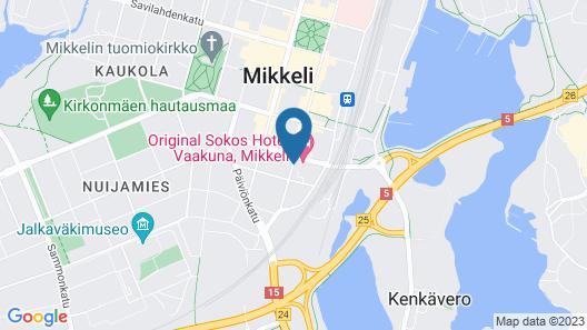 Original Sokos Hotel Vaakuna Mikkeli Map
