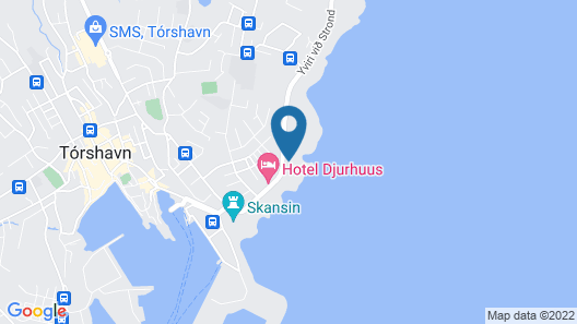 Havgrím Seaside Hotel 1948 Map