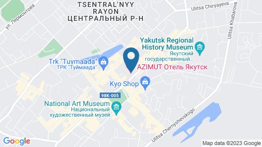 AZIMUT Hotel Yakutsk Map