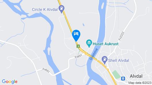 Frich's Hotell og Spiseri Alvdal Map
