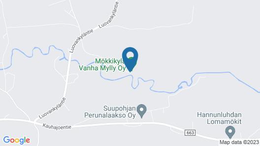 Mökkikylä Vanha Mylly Map