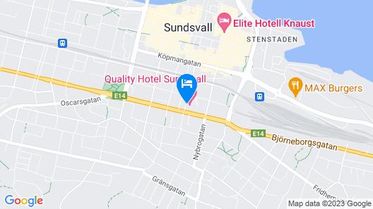 Quality Hotel Sundsvall Map