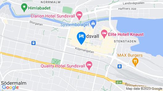 Scandic Sundsvall City Map