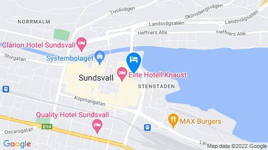 Best Western Hotel Baltic Map