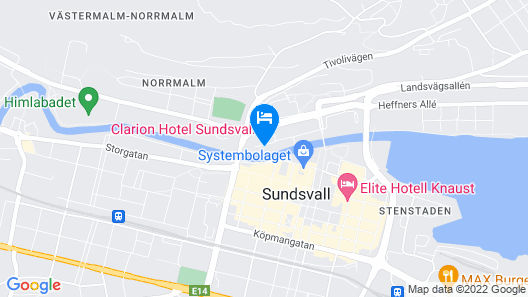 Clarion Hotel Sundsvall Map