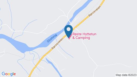 Roste Hyttetun og Camping Map