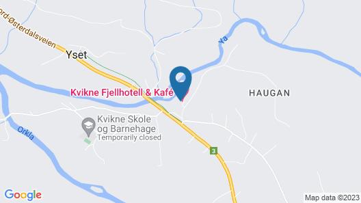 Kvikne Fjellhotell & Kafé Map