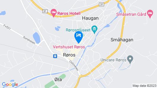 Vertshuset Røros Map