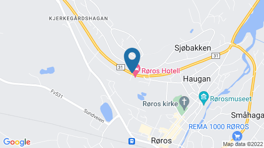 Roros Hotell Map