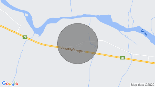 2 Bedroom Accommodation in Gjøra Map