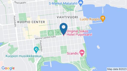 Original Sokos Hotel Puijonsarvi Map