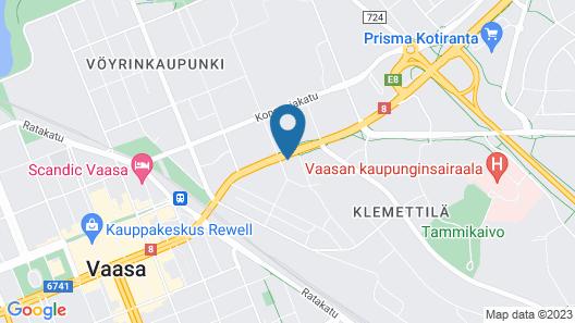 GreenStar Hotel Vaasa Map