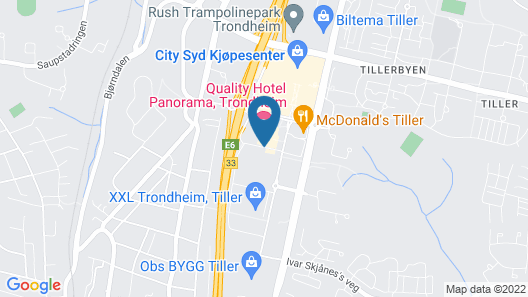 Quality Hotel Panorama Map