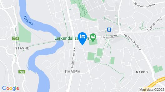 Scandic Lerkendal Map