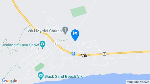 Vík Cottages Map