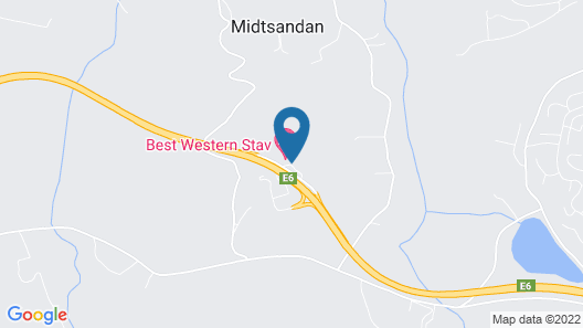 Best Western Stav Hotel Map