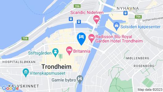 Comfort Hotel Trondheim Map