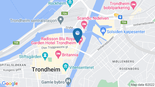 Clarion Collection Hotel Grand Olav Map