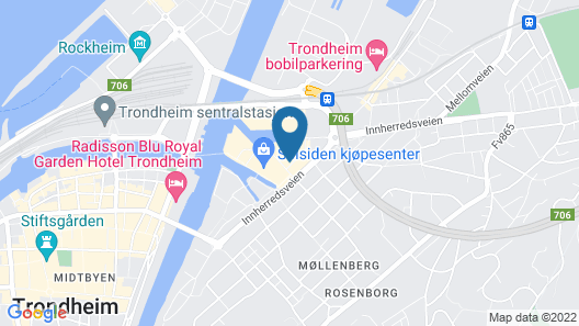 BJØRVIKA APARTMENTS, Solsiden Area, Trondheim city center Map