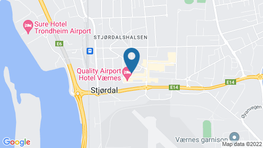 Quality Hotel Airport Vaernes Map