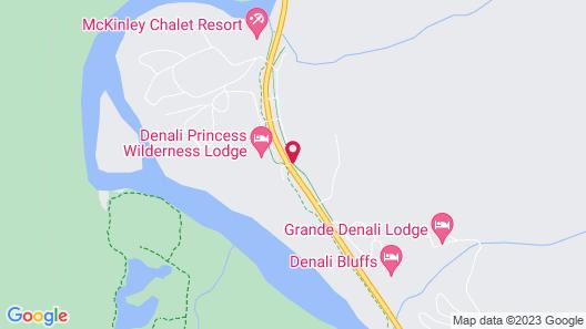 Denali Crow's Nest Cabins Map
