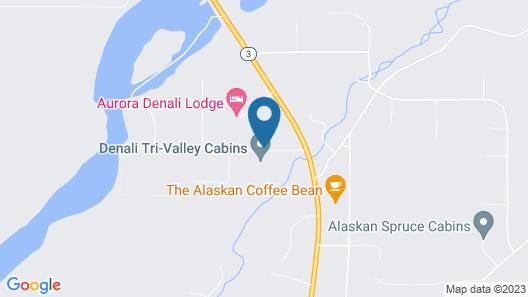 Denali Tri-Valley Cabins Map