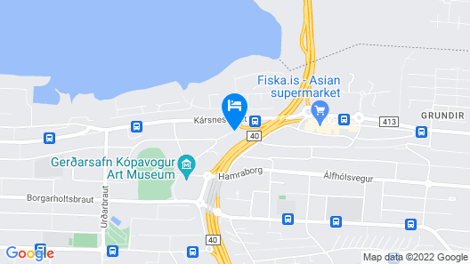 Iceland Comfort Apartments Map