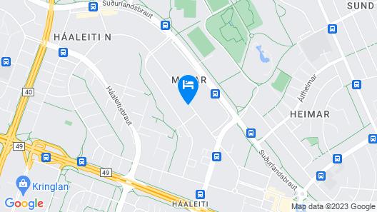 Ármuli Guest House Map