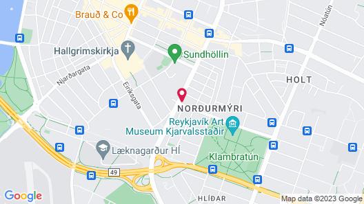 Reykjavik Hostel Village Map