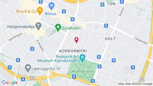 Fosshotel Raudara Map