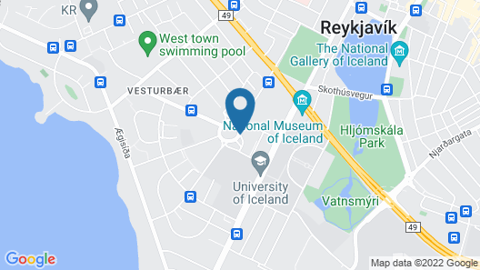 Radisson Blu Saga Hotel, Reykjavik Map