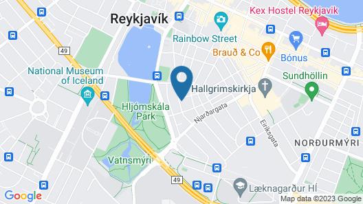 Baldursbrá Guesthouse Laufásvegur Map