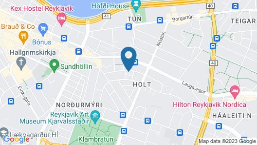 Eyja Guldsmeden Hotel Map